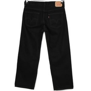 Levis 550 Jeans Relaxed Fit 30 X 26 10 Husky Black
